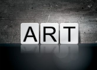 Art Tiled Letters Concept and Theme