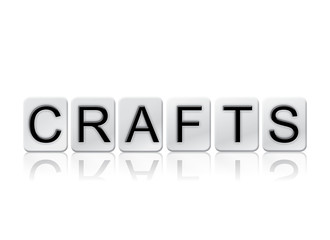 Crafts Isolated Tiled Letters Concept and Theme