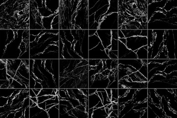 black and white marble tiles for pattern and background