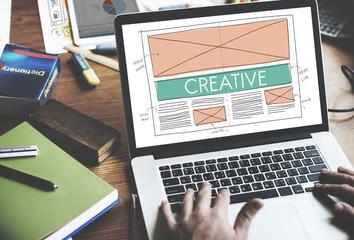 Wall Mural - Creative Creatvity Web Design Layout Concept