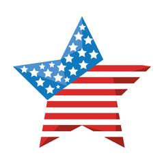 star with usa flag icon vector illustration design