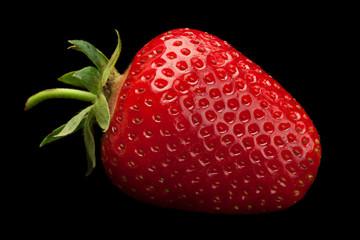 Strawberry fruit on black