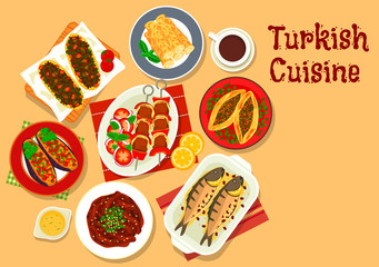 Turkish cuisine icon for restaurant design