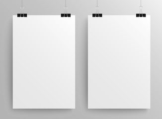Paper Rectangle Banner Vector. Mock Up. A4.
