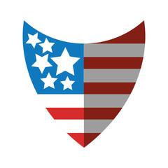 united states of america shield vector illustration design