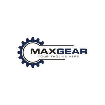 Gear logo creative design vector