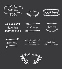 Doodle sketch hand-drawn logo and branding.vector illustration