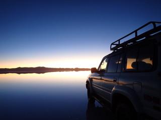 Sunrise in Uyuni Salt Flat, Bolivia
