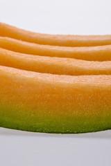 sliced cantaloupe.