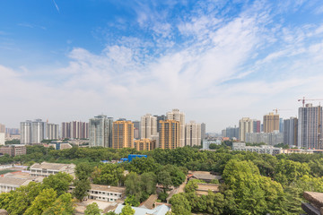 China 's urban landscape in Xi'an
