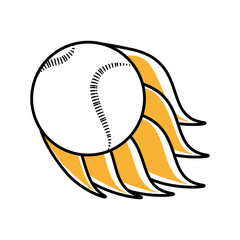 baseball ball equipment isolated icon vector illustration design