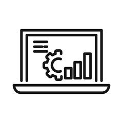 system monitoring vector illustration design