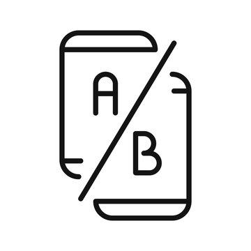 ab testing vector illustration design