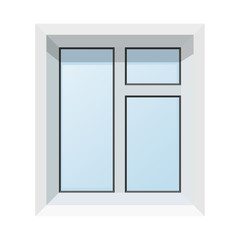 Vector illustration of abstract modern plastic windows. Realisti