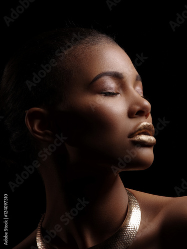 Woman with shaved lips
