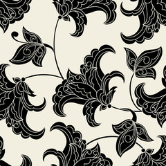 vintage pattern. floral vector background