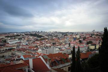 Panorama of City of Lisbon and Tejo River, Portugal