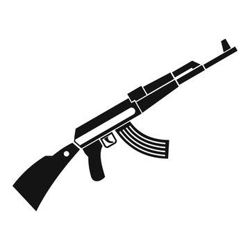 Kalashnikov machine icon. Simple illustration of Kalashnikov machine vector icon for web