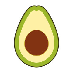 avocado vegetable healthy icon vector illustration design