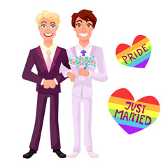 Gay wedding vector illustration