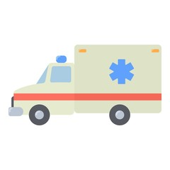 Ambulance icon. Flat illustration of ambulance vector icon for web
