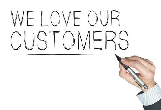 we love customers written by hand