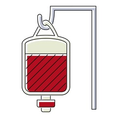 Package for blood transfusion icon. Flat illustration of package for blood transfusion vector icon for web isolated on white background
