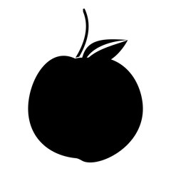 Apple icon. Simple illustration of apple vector icon for web