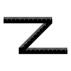 Measuring tape icon. Simple illustration of measuring tape vector icon for web
