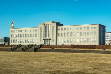 university building at Reykjavik harbor, Iceland
