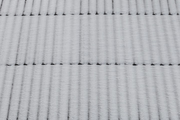 Snow on roof as background