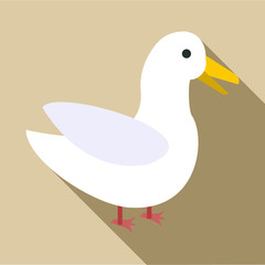 Goose icon. Flat illustration of goose vector icon for web