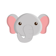 cute elephant isolated icon vector illustration design