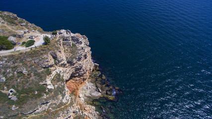 Aerial view of cape Kaliakra, Bulgaria