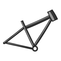Bicycle frame icon. Gray monochrome illustration of bicycle frame vector icon for web