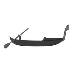 Gondola icon. Gray monochrome illustration of gondola vector icon for web