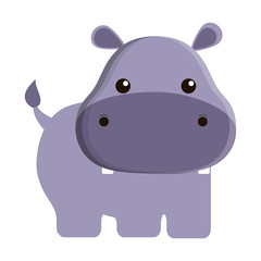 cute hippopotamus isolated icon vector illustration design