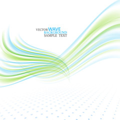 Abstract vector wave background, blue and green waved lines for design brochure, website, flyer eps10
