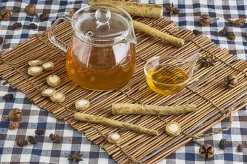 Burdock herbal tea