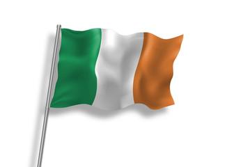 Drapeau de l'Irlande en qualité vectorielle