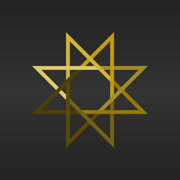 Luxurious Golden 8 Star Logo Icon Template