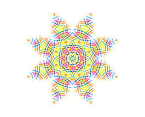 Abstract concentric pattern from color lines