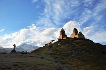 Mt Kazbek and Holy Trinity church