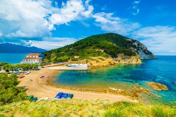 Wall Mural - Enfola headland beach and coast in Elba island, Tuscany,Italy.