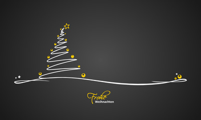 Christmas Card abstract tree
