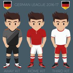 Munich Soccer Club Kits 2016/17 Bundesliga