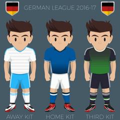 Gelsenkirchen Soccer Club Kits 2016/17 Bundesliga