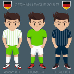 Wolfsburg Soccer Club Kits 2016/17 Bundesliga