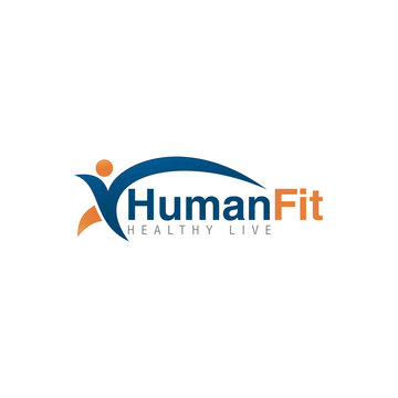 abstract line human people concept logo icon vector template