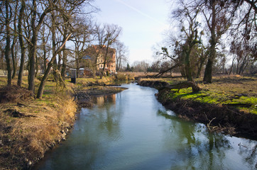 Bystrzyca river in Wroclaw - Poland